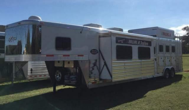 2016 Exiss ENDEAVOR 4 HORSE 16 FT SHORT WALL WITH SLIDE OUT Horse Trailer