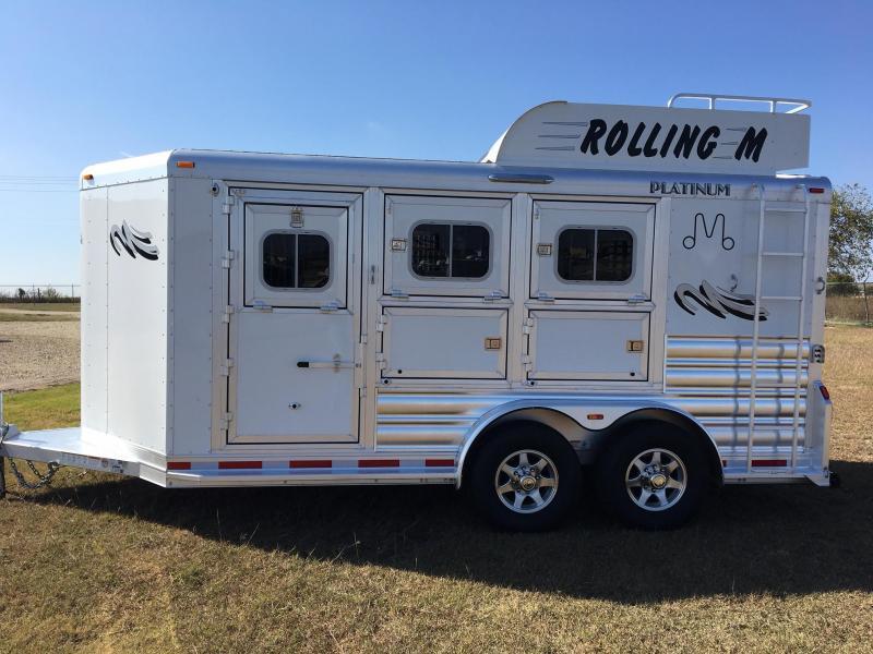 2018 Platinum Coach 3H Bumper Pull Horse Trailer