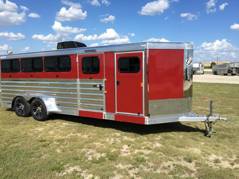 2018 Exiss Trailers Exhibitor 720W BP Livestock Trailer
