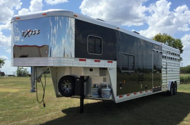 2018 Exiss Trailers STOCK LQ WITH MID TACK Livestock Trailer