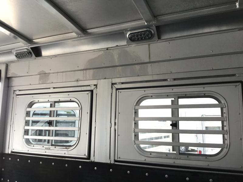 "2014 Platinum Coach 4 Horse 12'6"" LQ Reverse Load Horse Trailer"