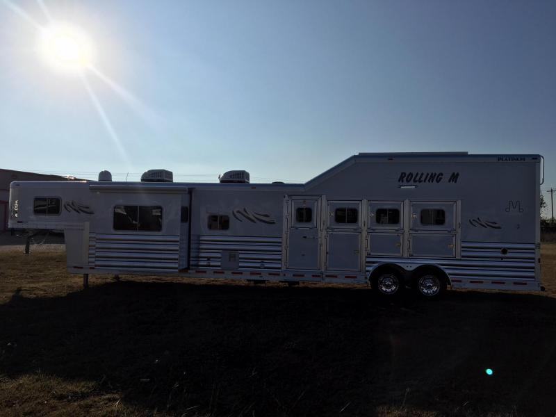 2018 Platinum Coach 4H 17 ft LQ Side Load with Slide Horse Trailer