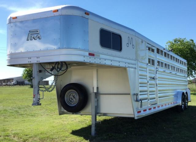 2017 Platinum Coach 6 HORSE STOCK COMBO Horse Trailer