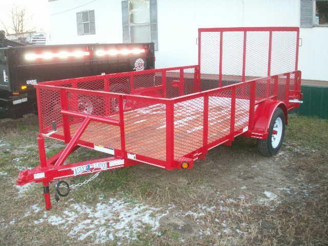 2016 Texas Bragg Trailers 12 LANDSCAPE MESH SIDES A SERIES Utility Trailer