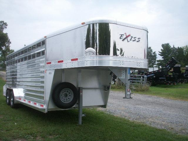 2015 Exiss 20 X 7 EXTRA HEIGHT GN Stock / Stock Combo Trailer