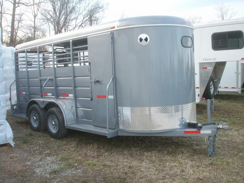 2017 W-W Trailer ALL AROUND 16 BP HD Livestock Trailer