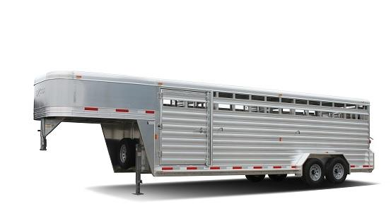 "2017 Exiss STK 8024 - 7'0"" Tall Stock / Stock Combo Trailer"