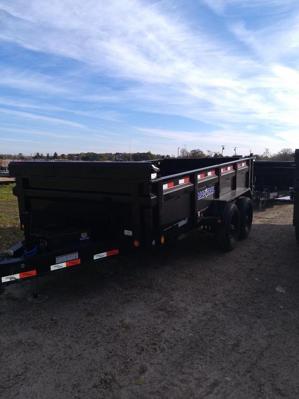 "Load Trail 83"" X 14' Dump Trailer W/Ramps & Trap Kit"