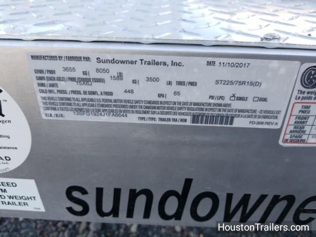 2018 Sundowner Trailers 19' CH19BP Car / Racing Hauler Trailer SD-61