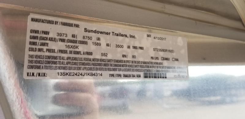 2018 Sundowner Trailers Super Sport 3 Horse GN SD-31