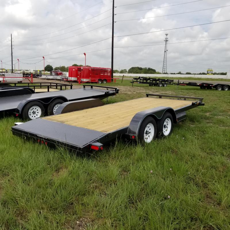 2018 Top Hat Trailers 18' x 7' DCH Car / Racing Trailer TH-95