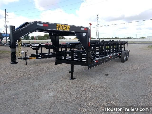 2018 Tiger Trailers 60X25 HHGN 5 Bale Hay Buggy Trailer TI-15