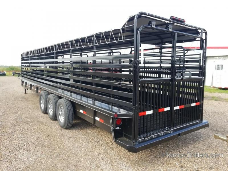 2019 Delco Trailers 32' Bar Top Livestock Rubber Floor Trailer DEL-34