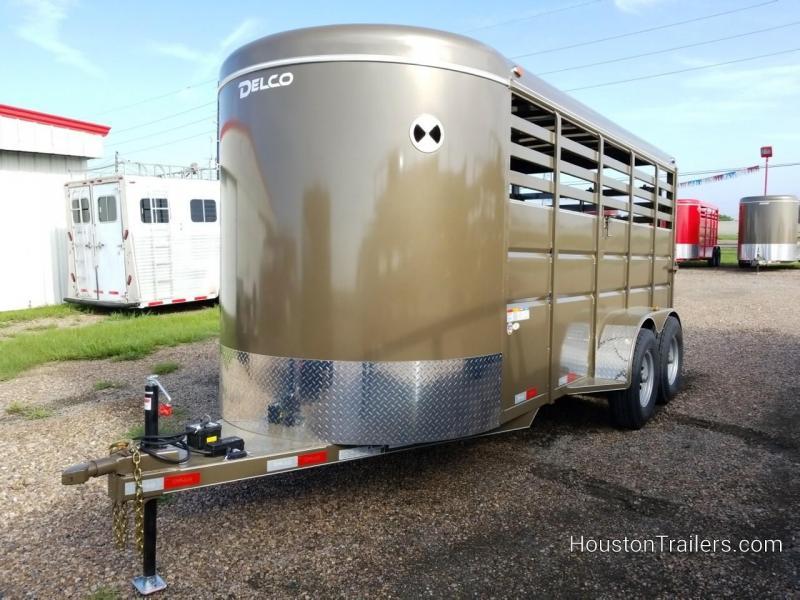 2018 Delco Trailers 16' Stock Livestock / Cattle Trailer DEL-37