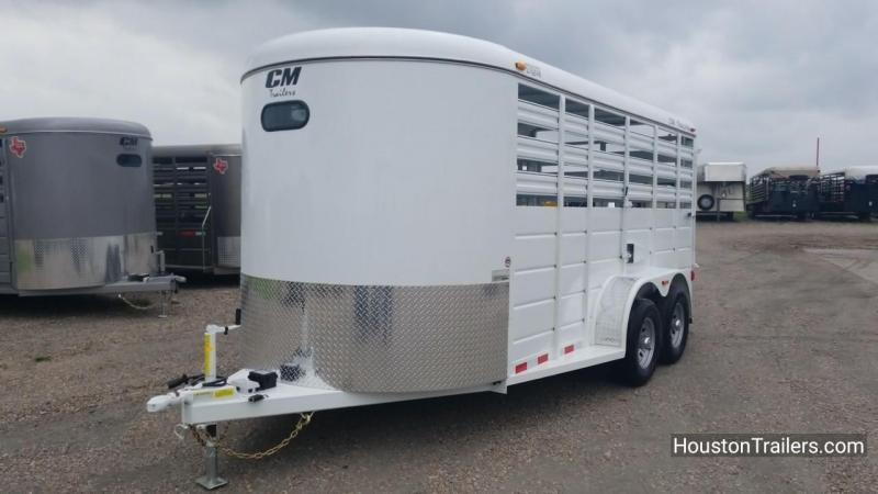 2018 CM 16' Stocker Livestock Trailer With Reap Ramp CM-49