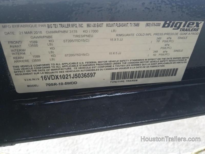 2018 Big Tex Trailers 10' x 5' 70SR Dump Trailer BX-148