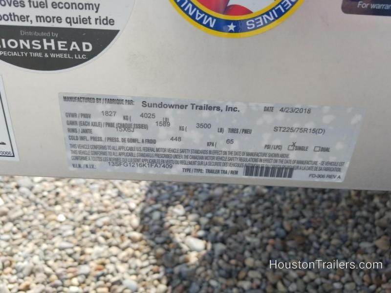 2019 Sundowner Trailers 12' 8112 SUT Utility Trailer SD-86