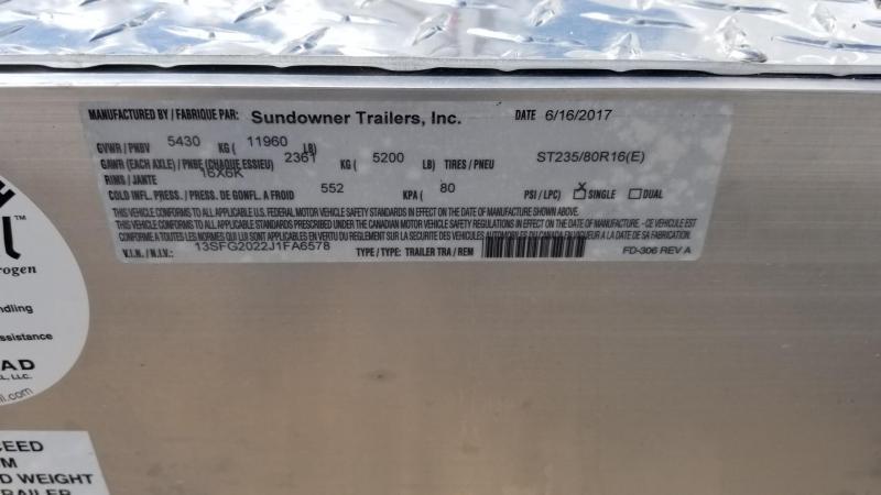 2018 Sundowner Trailers 20' All Purpose Utility BP Trailer SD-48