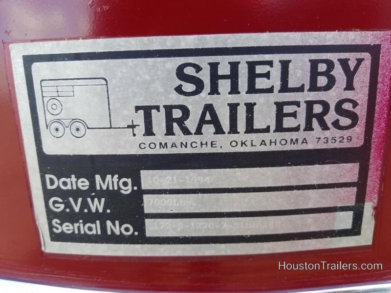 1995 Shelby Trailer 2 Horse 12' x 6' Slant BP Trailer 8058