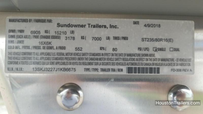 2019 Sundowner Trailers 24' Rancher Express GN Livestock Trailer SD-78