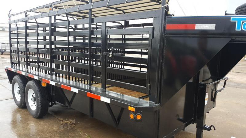 "2017 Top HatTrailers 16' x 6'8"" Brahma Livestock Trailer TH-44"