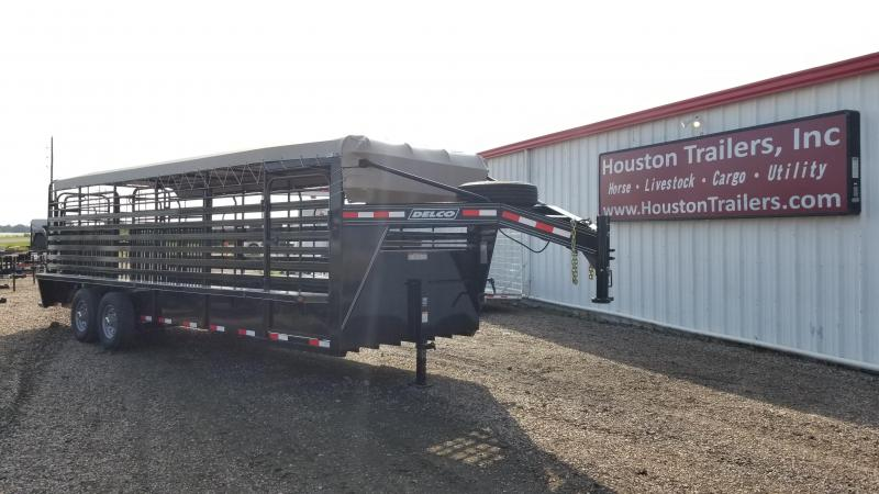 "2017 Delco Trailers 24' x 6'8"" Bar Top Livestock Trailer DEL-24"