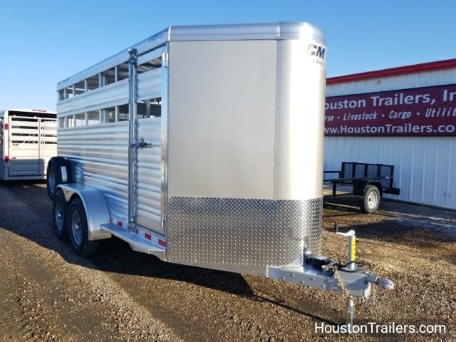 2018 CM Trailers 16' x 6'8 Stocker AL-V Livestock Trailer CM-40
