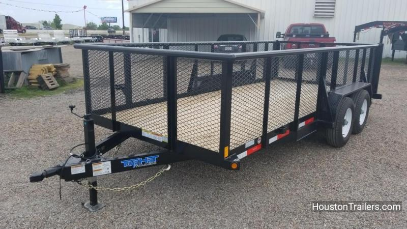 "2018 Top Hat Trailers 16' x 83"" HP Utility Trailer TH-134"