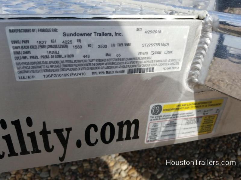 2019 Sundowner Trailers 10'  8110 SUT Utility Trailer SD-87