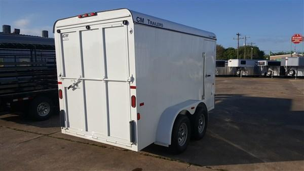 "CM Trailers 12' x 6' x 6'6"" Enclosed Cargo Trailer CM-8"