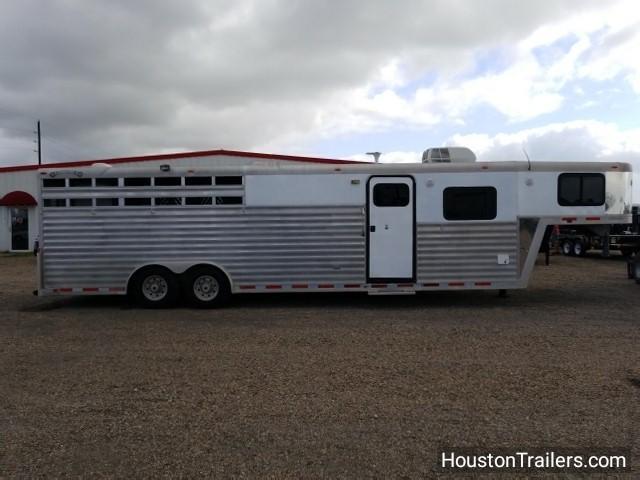 2000 Bloomer Trailer 28' x 8' 4 Horse LQ 12' Shortwall Horse Trailer co-1021