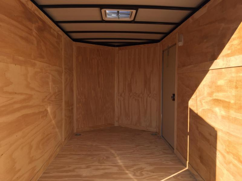 ROCK SOLID 2018 6' x 10' SINGLE AXLE WHITE ENCLOSED TRAILER