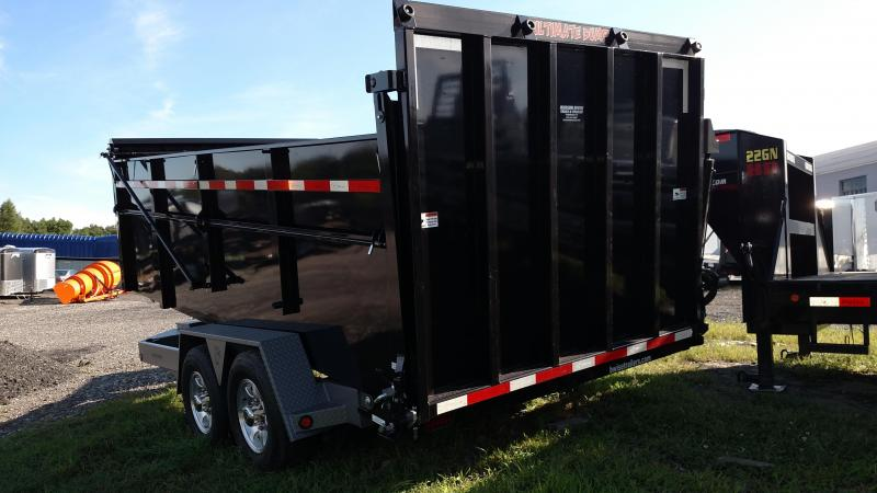 BWISE 2017 DU16-15 BLACK/GREY ULTIMATE DUMP TRAILER