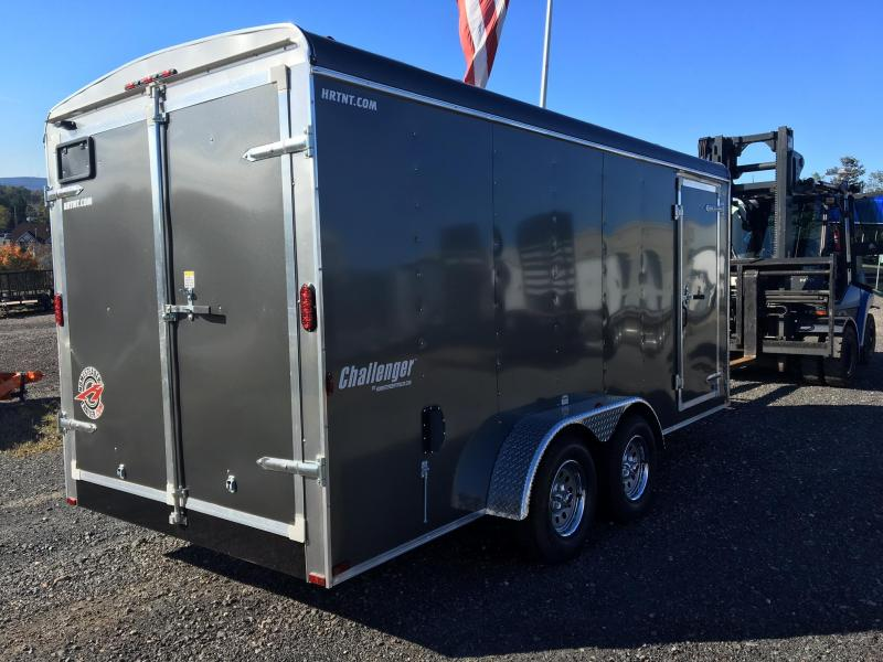 HOMESTEADER 2018 7' x 16' GRAY CHALLENGER ENCLOSED TRAILER