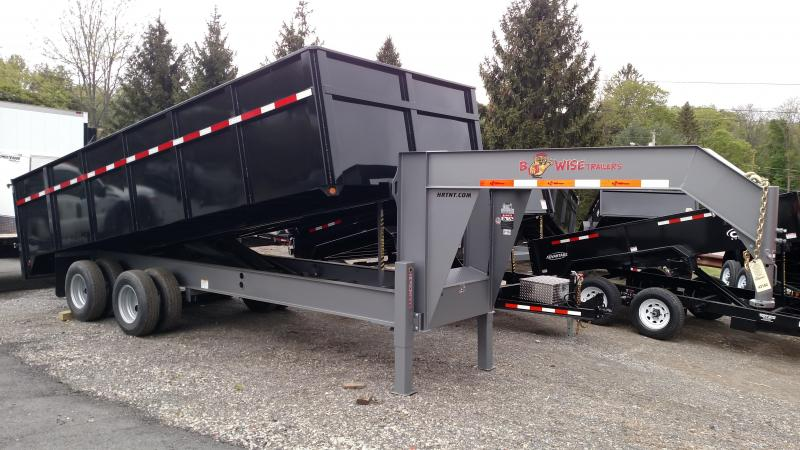 BWISE 2017 8.5' x 20' GOOSENECK DECKOVER DUMP TRAILER. ** ON SALE. PLEASE ASK FOR BILL. **