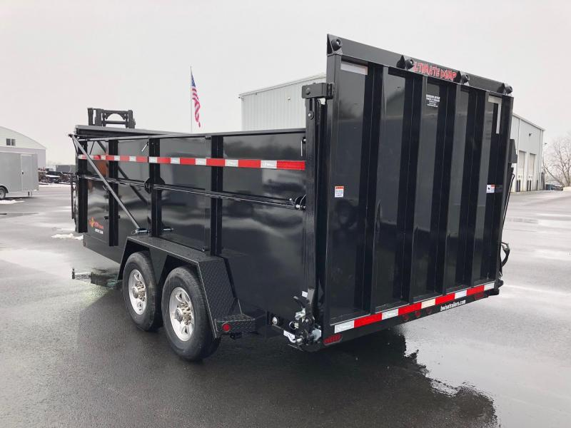 BWISE  2018  7' x 16' BLACK ULTIMATE DUMP LOW PROFILE TRAILER
