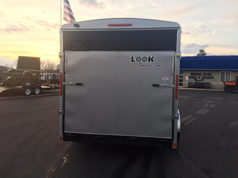 LOOK 2018 7' x 16'  SILVER TANDEM AXLE ROUNDED FRONT ENCLOSED TRAILER