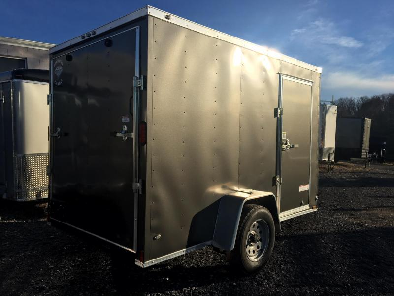 DIAMOND CARGO 2018 6' x 10' SINGLE AXLE GREY ENCLOSED TRAILER