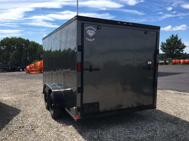 DIAMOND CARGO 2018 7x14 BLACKOUT PACKAGE ENCLOSED CARGO TRAILER