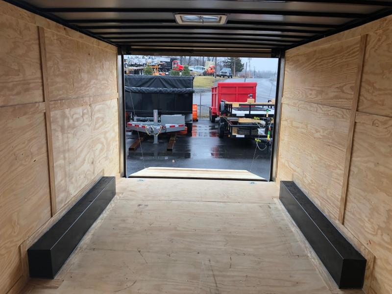 ROCK SOLID 2018 8.5' x 16' CH TANDEM AXLE CHARCOAL GRAY V-NOSE CARGO TRAILER