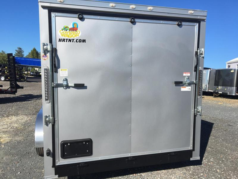 COVERED WAGON 2018 CHARCOAL 7' x 16' ROUNDED FRONT ENCLOSED CARGO TRAILER