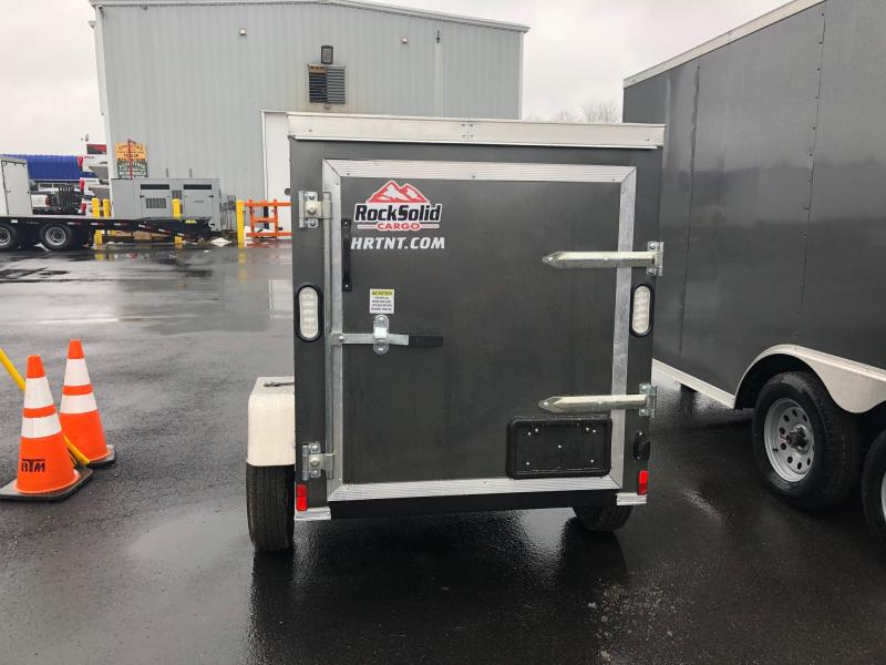 ROCK SOLID 2018 4' x 6' SINGLE AXLE CHARCOAL GRAY ENCLOSED TRAILER