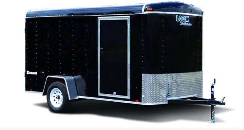 LOOK 2018 6 x 12' ELEMENT CARGO FLAT TOP ENCLOSED TRAILER