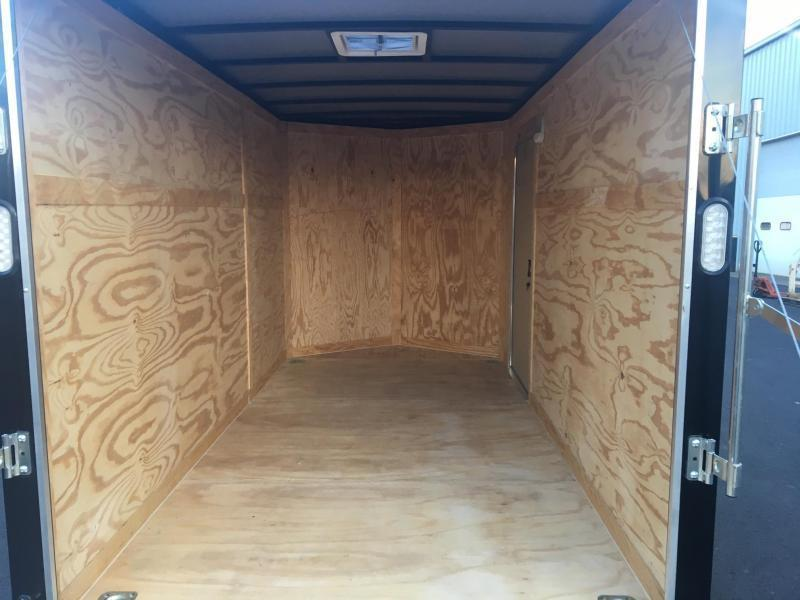 ROCK SOLID 2018 6' x 12' BLACK W/BLACK PACKAGE SINGLE AXLE V-NOSE ENCLOSED TRAILER