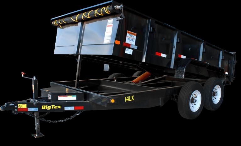 BIGTEX 2018 7' x 16'  14LX Heavy Duty Tandem Axle Dump