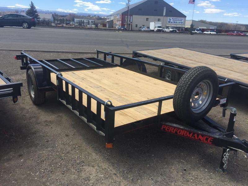 2016 Performance Trailers utility w/ side removable side ramps ATV Trailer