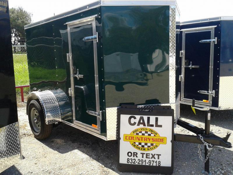 2017 Continental Cargo 5 X 8 SINGLE AXLE Enclosed Cargo Trailer