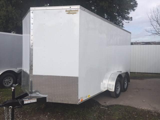 2018 Continental Cargo 7 x 14 tandem axle enclosed