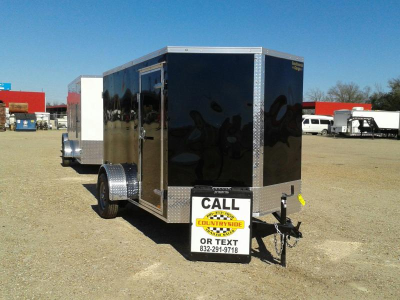 2017 Continental Cargo 6 X 10 SINGLE AXLE Enclosed Cargo Trailer