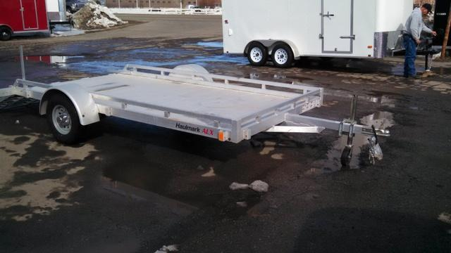 NEW Haulmark ALL Aluminum 7 x 12 Utility Trailer - open flat deck